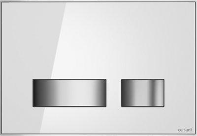 Панель смыва CERSANIT Movi S97-012 белое стекло