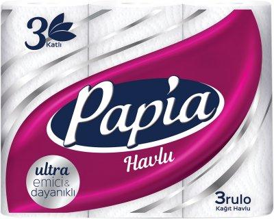 Паперові рушники Papia 3 шари 3 рулони (8690536011056)
