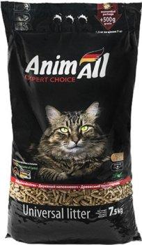 Наполнитель универсальный для котов, грызунов и птиц AnimAll Древесный впитывающий 7.5 кг (20 литров) (4820224500164)