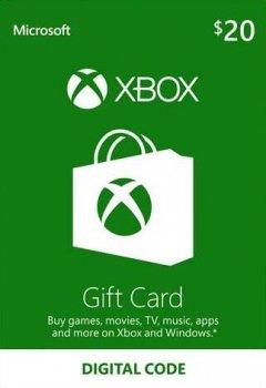 Подарункова карта Xbox Live / Gift Card поповнення гаманця (рахунки) свого аккаунта на суму 20 usd, US-регіон