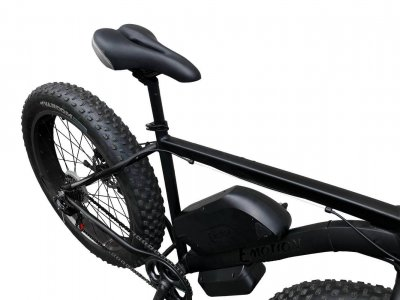 """Електровелосипед передньопривідний E-MOTION FATBIKE GT 48V 16AH 750W FRONT 26"""" / рама 19"""" чорний матовий (EPGT48151000-B)"""
