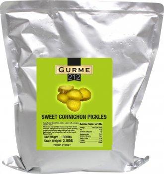 Огурцы маринованные Gurme 212 для бургера 3.5 кг (8680697445555)