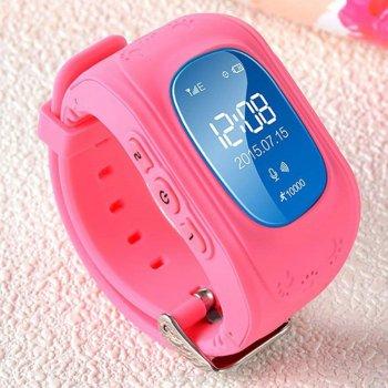 Дитячі розумні годинник-телефон з GPS трекером Smart Watch Q50 ECO baby pink watch дитячі годинники телефон наручні з трекером ( для хлопчика і дівчинки )