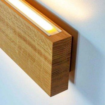 Настінний світильник LED з натурального дерева з сенсорним вимикачем