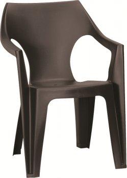 Стул Dante low back коричневий Allibert (3253929000584)