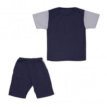 Костюм Sofushka (футболка+шорти) синій з сірим 152