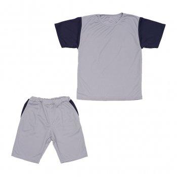 Костюм Sofushka (футболка+шорти) сірий з синім 158