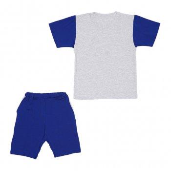 Костюм Sofushka (футболка+шорти) 0047 електрик з сірим 134