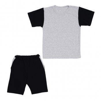 Костюм Sofushka (футболка+шорти) чорний з сірим 128