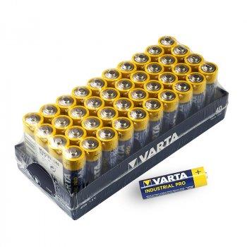 Батарейка щелочная Varta Industrial PRO (4006), AA/(HR6), коробка 40шт