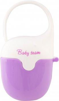 Контейнер для пустушки Baby Team Фіолетово-білий (3301)