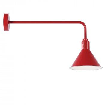 Бра для вітальні, спальні, вітальні, офісу, прихожої, кафе Buco 4982-2 сталь червоний PikArt