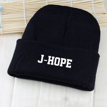 Шапка Bioworld BTS с рисунком K-POP J-Hope Джей-Хоуп BTS Bulletproof Boy Чёрная (6946)