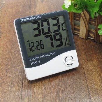 Термометр-гигрометр, часы, будильник HTC-1 (измеритель температуры и влажности + часы + будильник)