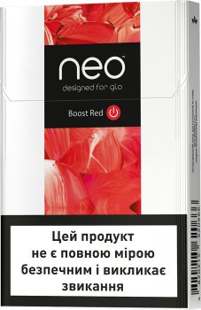 Блок стиків для нагрівання тютюну GLO NEO STIKS Boost Red Rich Tobacco 10 пачок (4820215620673)