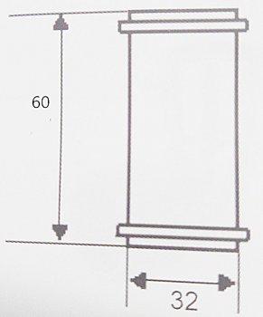 Муфта латунная McALPINE 32х32x60 мм хром (5906485649930)
