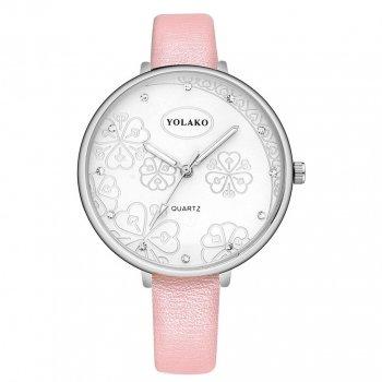 Женские классические часы Yolako, циферблат - белый, арт. (41322)