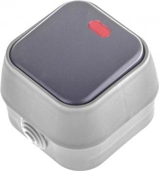 1-клавишный выключатель Brille FB-1VL Серый (42-249)