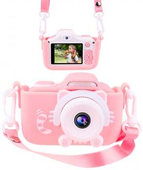Силіконовий чохол і ремінець XoKo KVR-001 для цифрового дитячого фотоапарата Рожевий (KVR-001-CS-PN) (9869201149915)