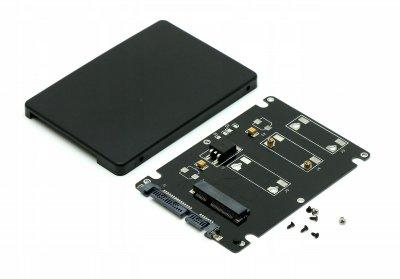 """Конвертер STLab 2.5"""" SATA to mSATA mini Pcie для ноутбука/ПК (Black)"""