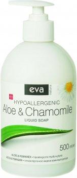 Жидкое крем-мыло для чувствительной кожи рук Eva Natura Алоэ и ромашка гипоаллергенное 500 мл (5900002072966)