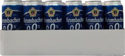 Упаковка пива Krombacher Pils светлое фильтрованное 0% 0.5 х 24 шт (4008287925142G)