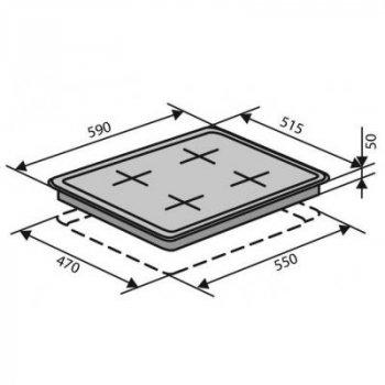 Варильна поверхня VENTOLUX HSF640-T3G CEST (BK)