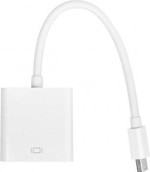 Перехідник PowerPlant mini DisplayPort (Thunderbolt) (M) — VGA (F) 0.15 м Білий (CA911899)