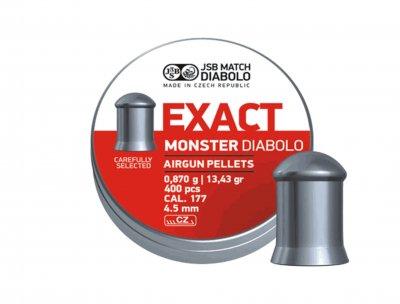 Пули пневматические (для воздушки) 4,5мм 0,87г (200шт) JSB Diabolo Exact Monster. 14530570