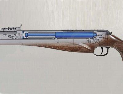 Винтовка пневматическая с газовой пружиной Diana Mauser AM03 N-TEC с глушителем. 3770239
