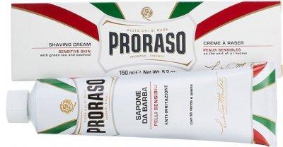 Крем для бритья для чувствительной кожи Proraso с экстрактом зеленого чая и овса 150 мл (8004395001231)