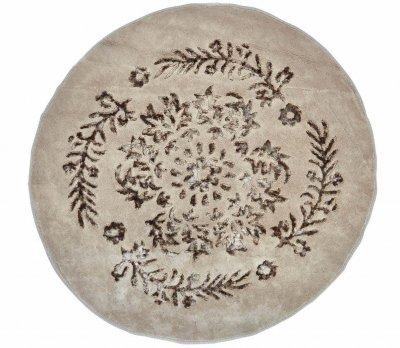 Коврик для ванной Аrya. Luxor коричневый, круглый-Диаметр 120 см