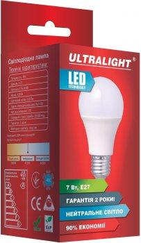 Світлодіодна лампа Ultralight LED A60 7W 4100K E27 (UL-49123)