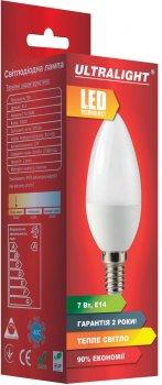 Светодиодная лампа Ultralight LED C37 7W 3000K E14 (UL-49135)