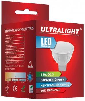 Світлодіодна лампа Ultralight LED MR16 6W 4100K G5.3 (UL-49146)