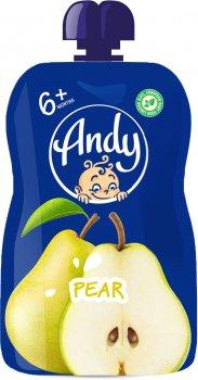 Упаковка пюре Andy Груша з 6 місяців 90 г х 12 шт. (4813163003438)