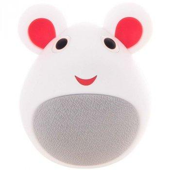Портативна колонка дитяча мишка Білий (MB-M919)