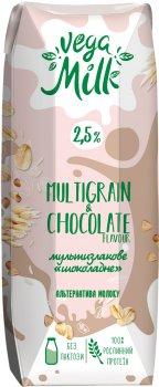 Упаковка напитка Vega Milk мультизлакового с какао ультрапастеризованного 250 мл х 15 шт (4820192262187)