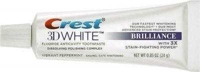 Отбеливающая зубная паста Crest 3D White Brilliance Vibrant Peppermint 24 г (91354355)