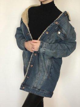 Джинсова куртка Mod-Room L з теплим хутром жіноча RA-01