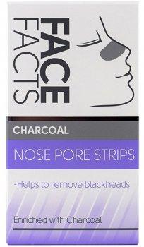 Очищаючі смужки для носа Face Facts Charcoal 6 шт (5031413972313)