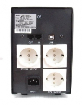 Пристрій безперебійного живлення Powercom BNT-1000AP Schuko Black Knight Pro USB