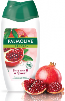 Гель-крем для душа Palmolive Натурэль Витамин B и Гранат 250 мл (8718951301016)