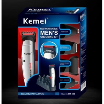 Стайлер чоловіча роторна електробритва бездротова Kemei KM-560 5 в 1