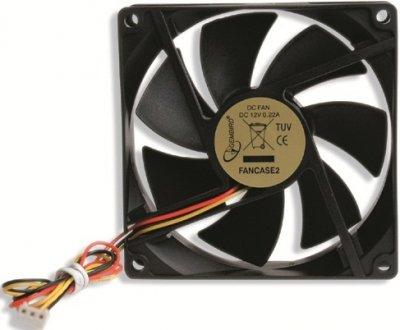Охолоджувач Cooler for Case Gembird 90х90х25мм FANCASE2/BALL BB 2500 об/мин 25дБ 3pin черный з шарикопідшипником