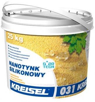 """Штукатурка наносиліконова Kreisel Silikon Protekt Nanotink 031 """"баранчик"""" 1.5 мм 25 кг (відро) Біла (IG202240)"""