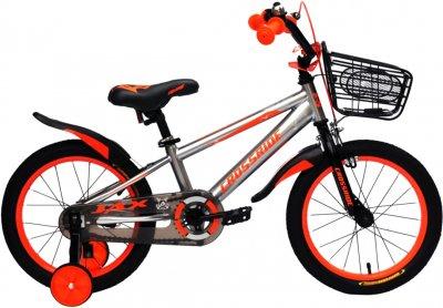 """Детский велосипед Crossride Jax 16"""" 9"""" Серо-оранжевый (0459)"""