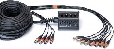 Мультикор Cordial Stagebox system (subsnake) 8 x input, 4 x output / pigtail Rean XLR male 30 м Black (CYB 8-4 C)