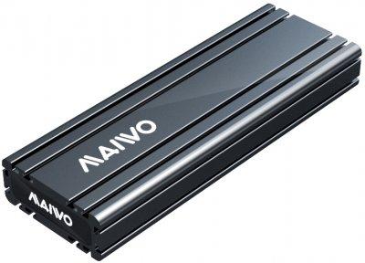 Зовнішня кишеня Maiwo для M.2 SSD NVMe (PCIe) — USB 3.1 Type-C (K1686P space grey)
