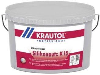 """Штукатурка силіконова Krautol Silikon FassadenputzTransparent K15 """"баранчик"""" 1.5 мм 25 кг (відро) Біла (IG17035)"""